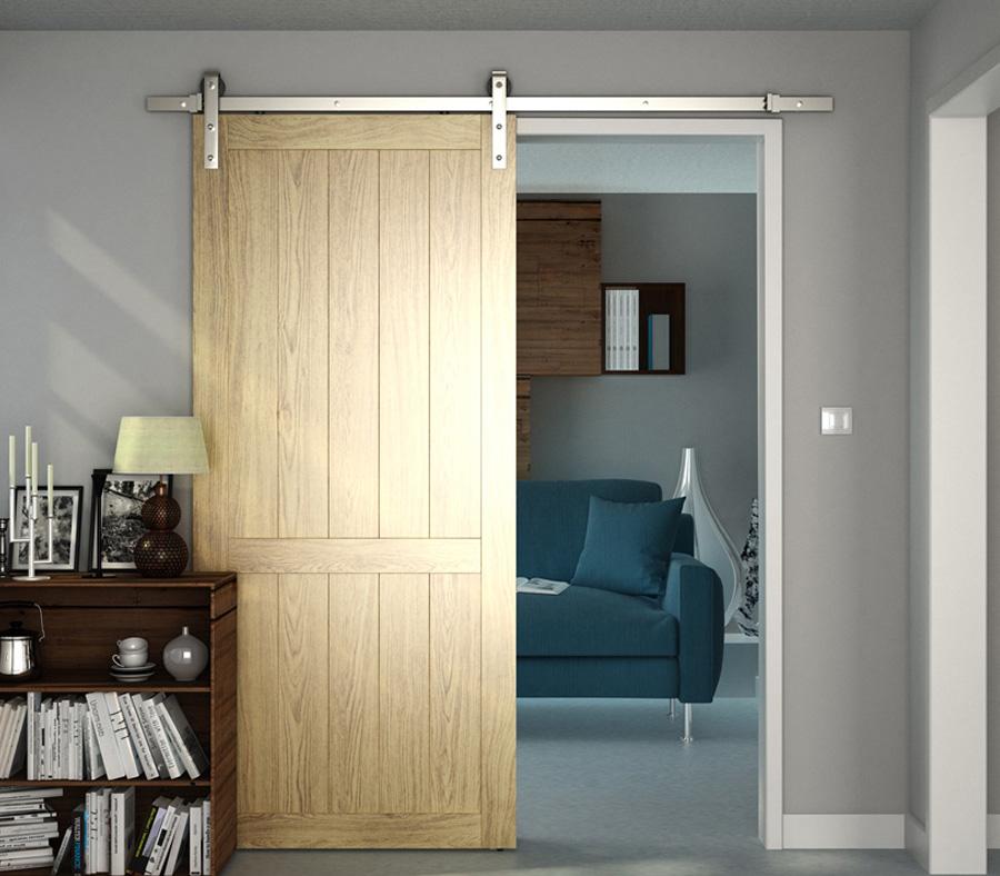 Dividers By Coxusa Steel Barn Door Hardware In Satin Nickel Finish 89 Series