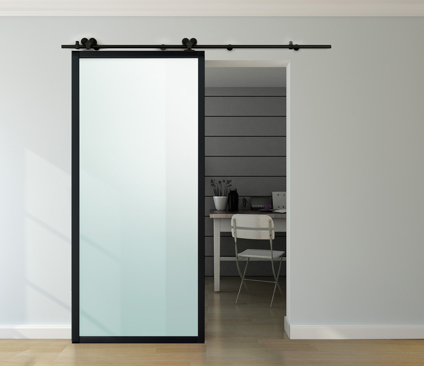 Dividers By Coxusa Products Contemporary Aluminum Framed Barn Door